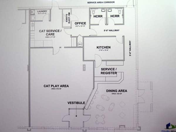 cat cafe floorplan