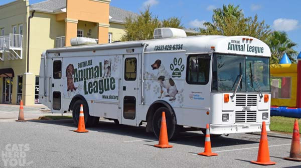 South Lake Animal League bus