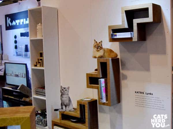 wall-mounted Katris cat scratching blocks at at Global Pet Expo 2016 #globalpetexpo
