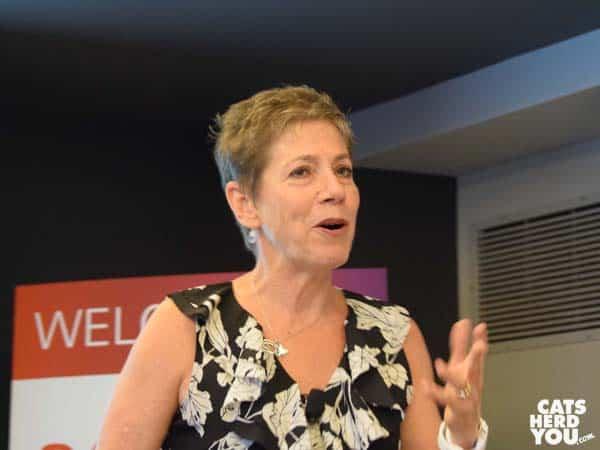 Dr. Margie Scherk speaks at BlogPurr