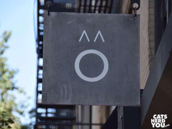 Sign, Koneko cat cafe NYC
