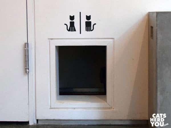 Litterbox door, Koneko Cat Cafe, NYC