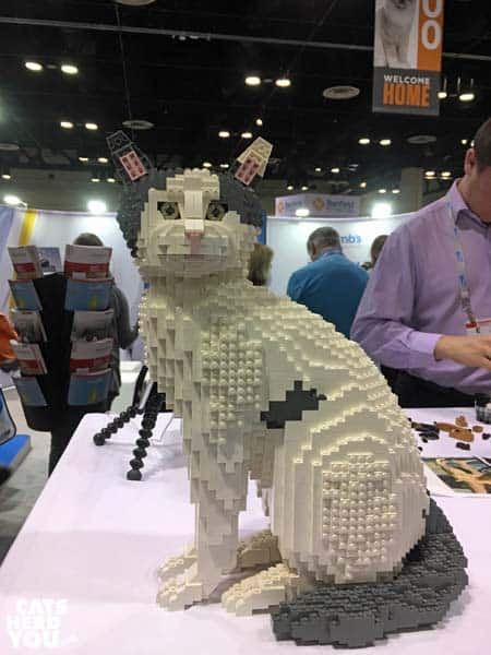 cat made of legos