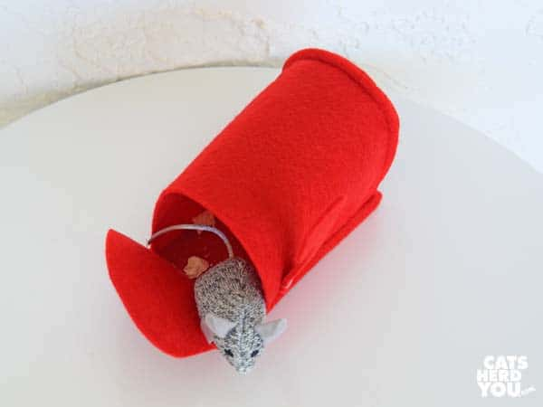 valentine mouse in mailbox conceals chicken treat