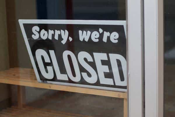 Sorry, we're closed dign