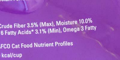 dry cat food moisture content