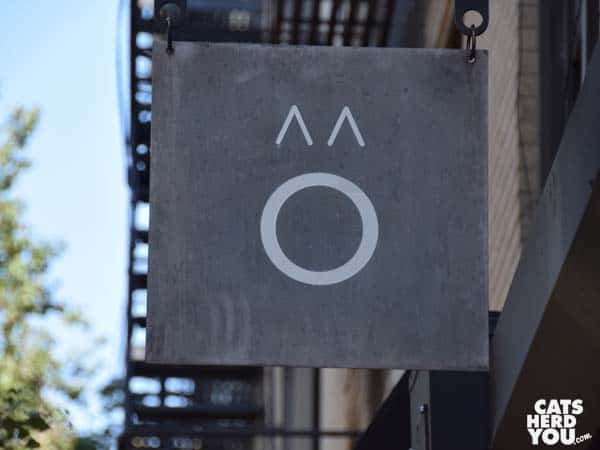 Sign, Koneko cat cafe NYC