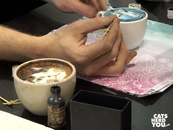 making art cappuccinos