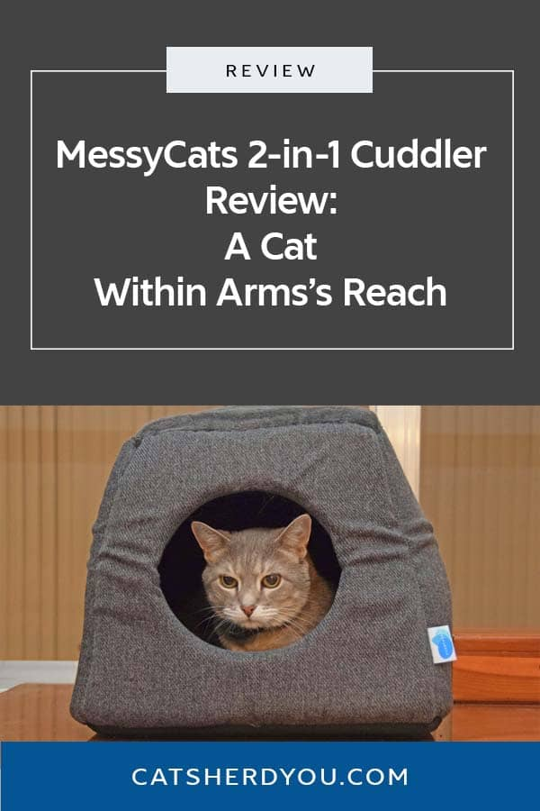 How the MessyCats 2-in-1 Cuddler Bed helped me keep Pierre within arm's reach and still be able to get some work done. #review #sponsored #cat #catbed